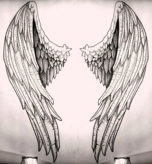 Drawn angel angel wing Ideas Angelic drawing Wings drawing