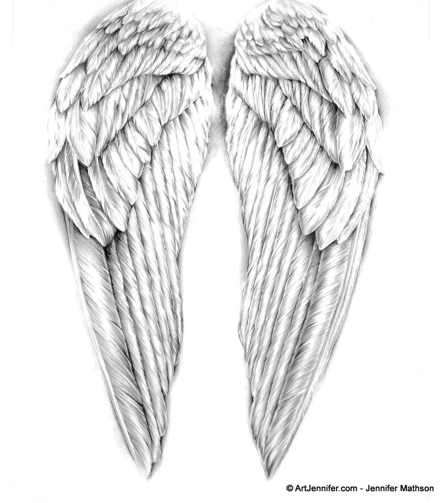 Drawn angel angel wing Projects Angel  Pinterest ArtJennifer