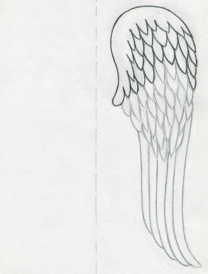 Drawn angel outline drawing You by Wings Few To