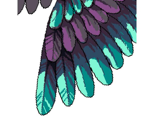 Wings clipart pixel art Pattern Art in Placing base