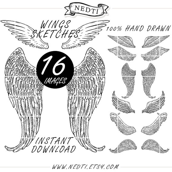 Wings clipart sketched Lineart similar Wings Wings Clip