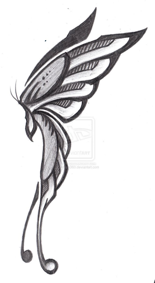 Drawn fairy side view Side color fairy Pic Fairy