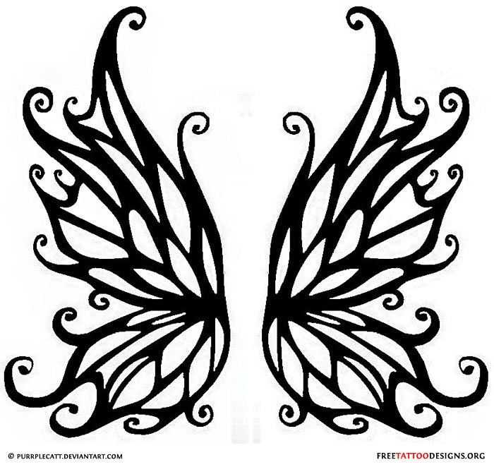 Drawn butterfly side view À Fairy ma Find on