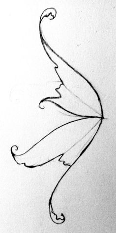Drawn fairy side view And Dr wings Odd