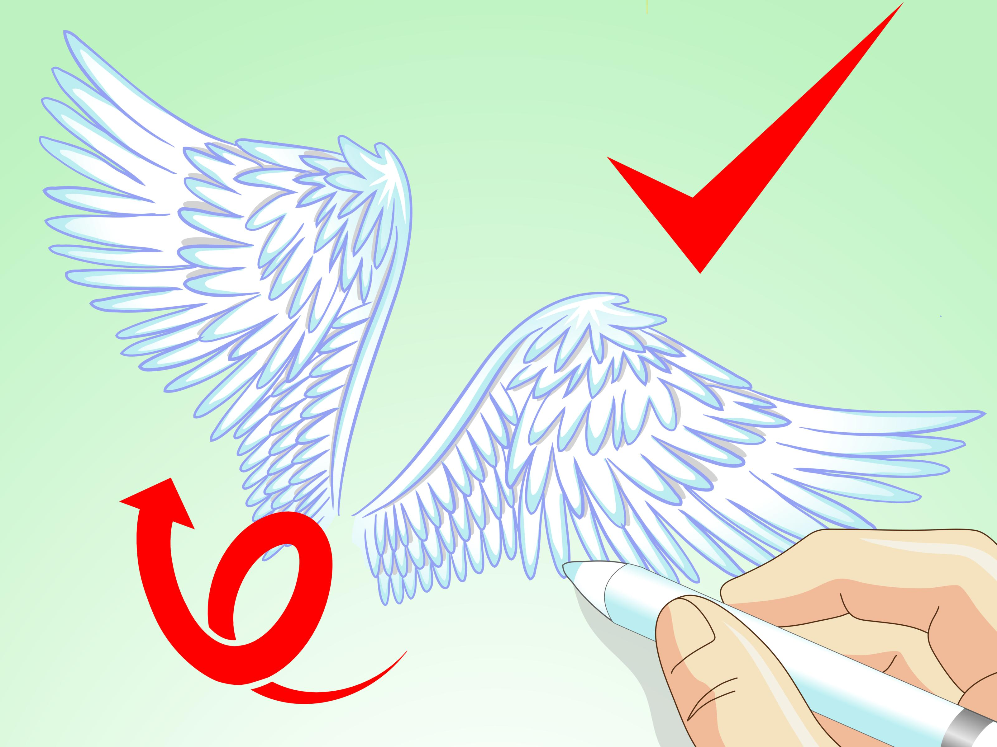Drawn angel angel wing (with  Steps Pictures) Angel