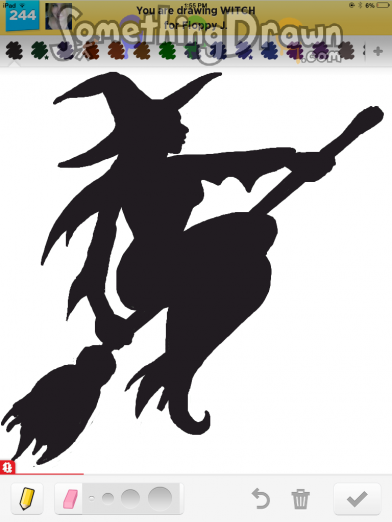 Drawn witch SomethingDrawn on by Lemoram Something