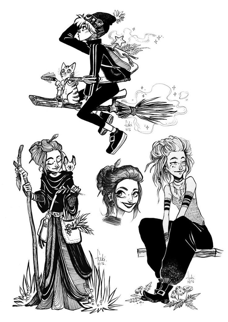 Drawn witchcraft Witches on Best by drawing