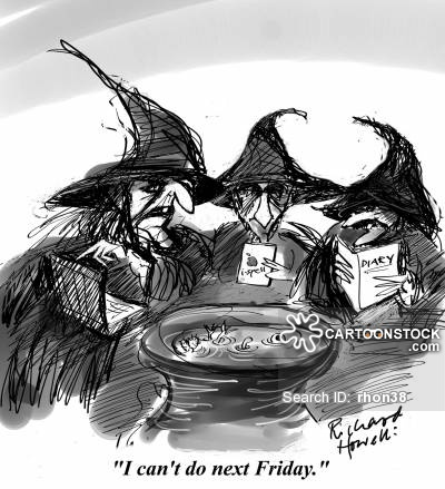 Witchcraft clipart three Cartoon of 4 funny 35