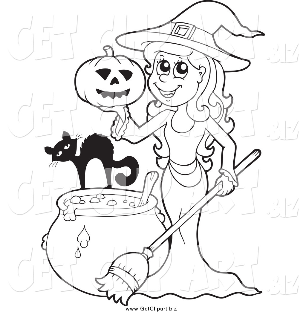 Witch clipart color And – White Witches Black