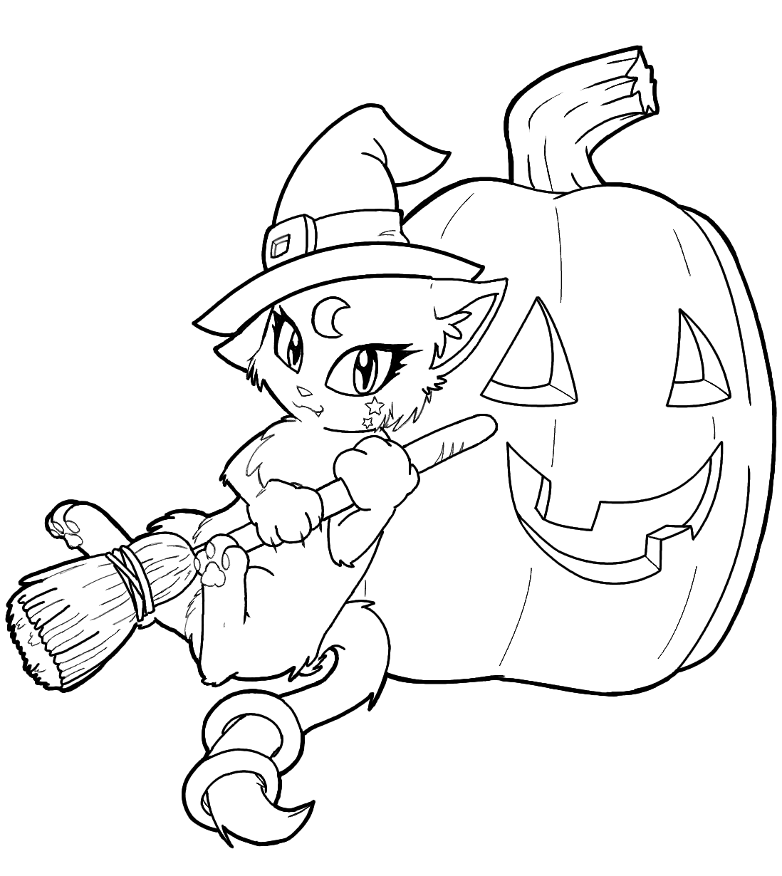 Witchcraft clipart halloween coloring Pages Puppet Pages Marcella Coloring