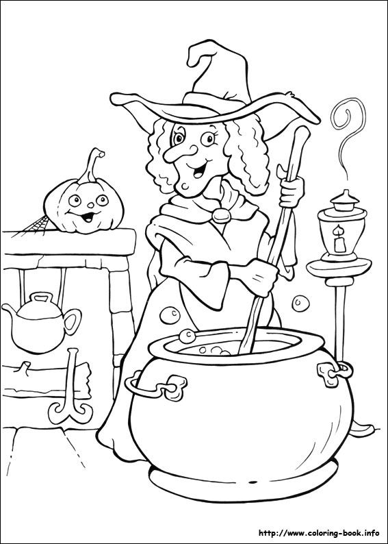 Drawn witchcraft color Pictures to on ideas Halloween
