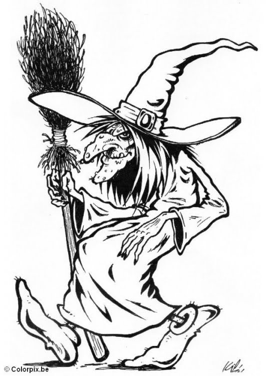 Drawn witchcraft color To 198 Halloween Color Witch