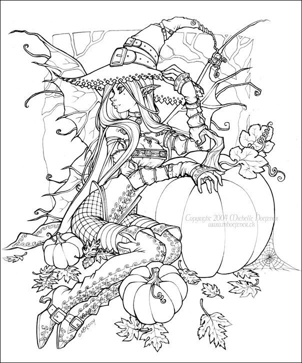 Drawn witchcraft color Best Halloween images Color more