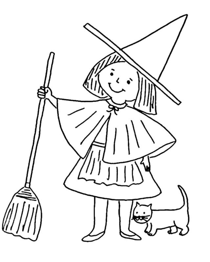 Witch clipart color Witch To Coloring Pages 3