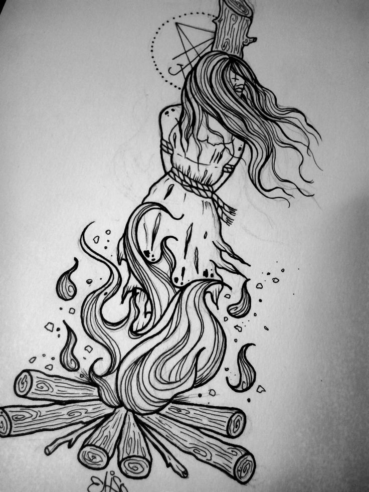 Drawn witchcraft creepy witch #burningwitch #death #witch # about