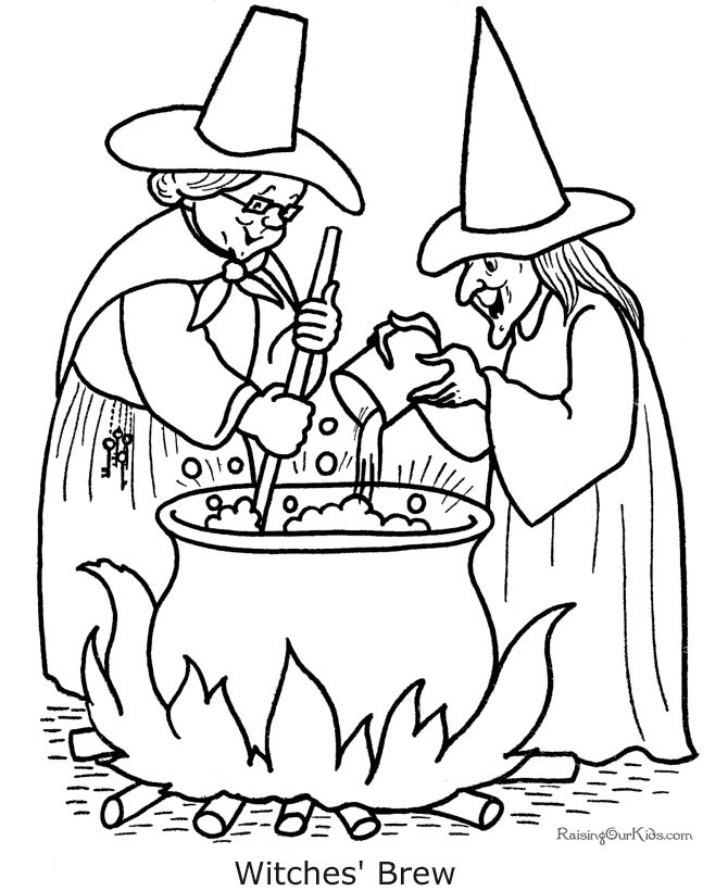 Drawn witchcraft creepy witch These coloring pages Halloween of