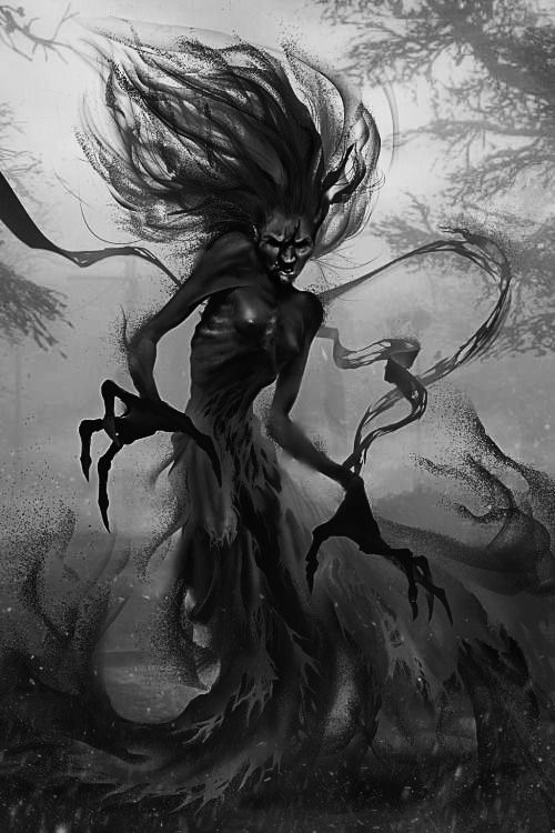 Drawn witchcraft dark creature On images best about Pin