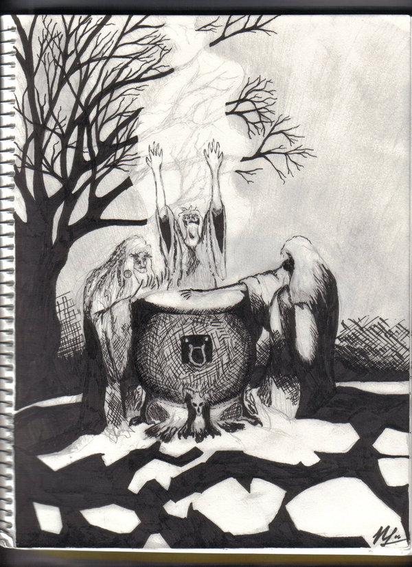 Drawn witchcraft macbeth Of Three deviantART of by