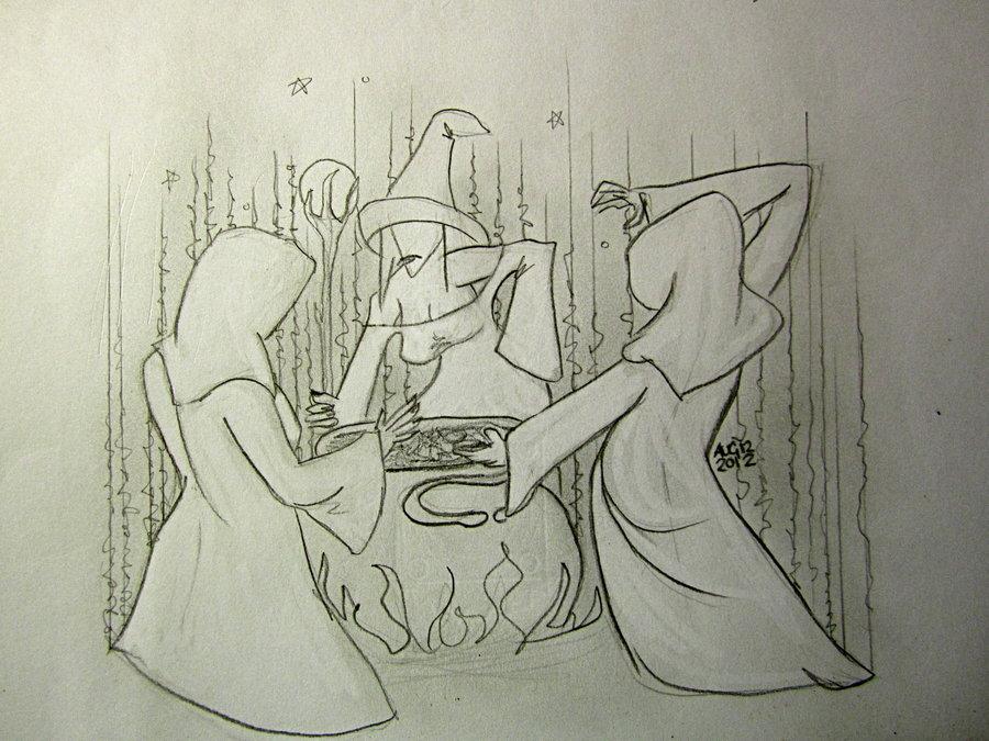 Drawn witchcraft macbeth Pinterest Macbeth and they meet