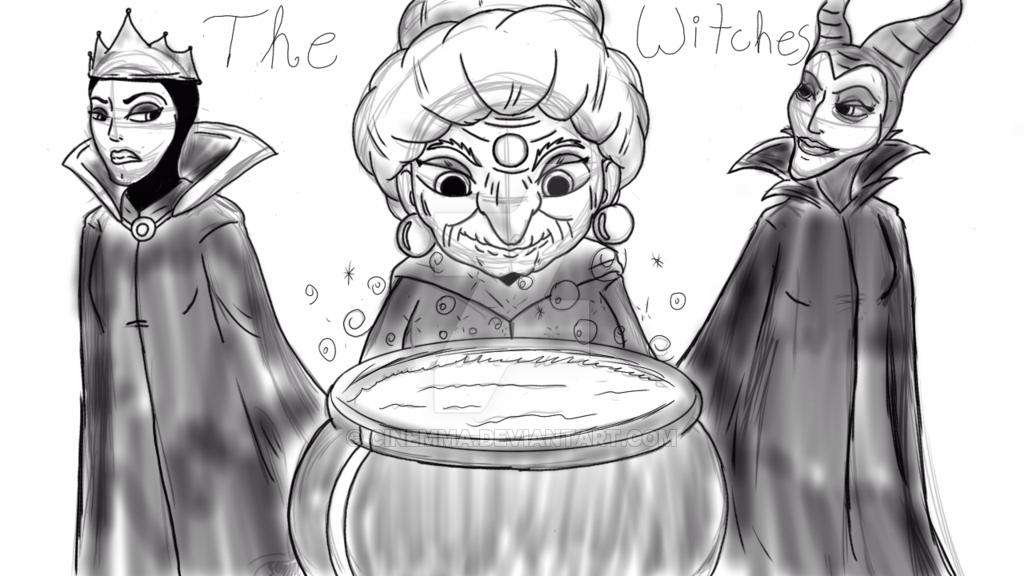 Drawn witchcraft macbeth By Macbeth Witches DeviantArt Witches