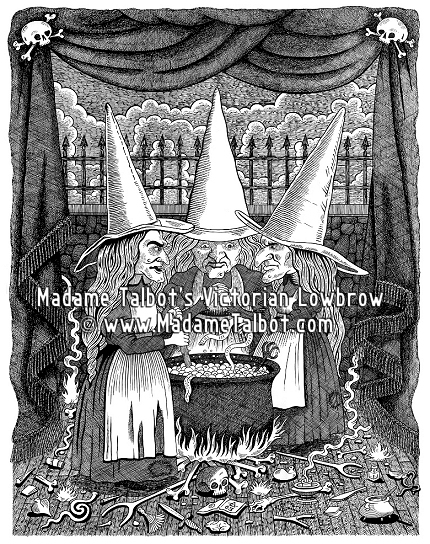 Drawn witchcraft old witch Witches Lowbrow Three Talbot's Macbeth