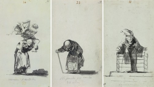 Drawn witchcraft old witch Institute and Album Goya: Old