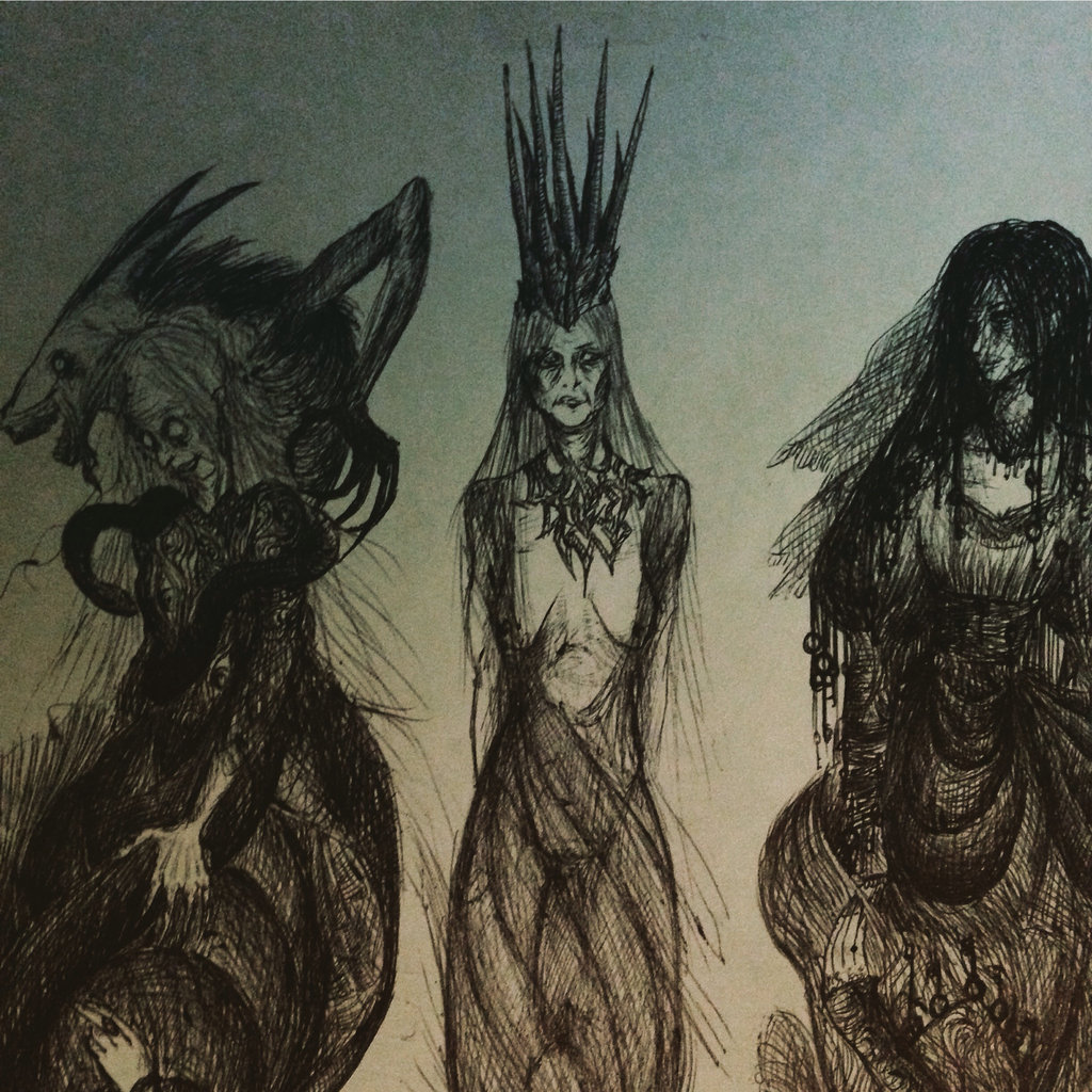 Drawn witchcraft old witch By by The The by
