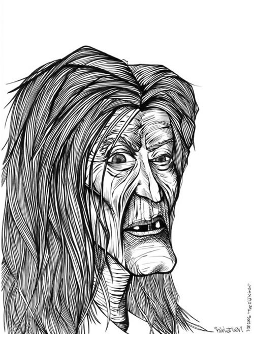 Drawn witchcraft old witch WITCHES/WIZARDS pencil witch Search art
