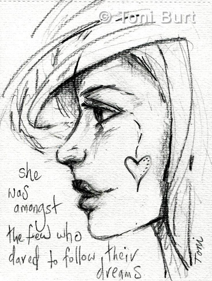 Drawn profile half face Ideas who dreams Best few