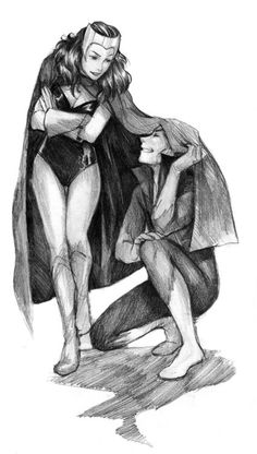 Drawn witchcraft scarlet witch Razuri Witch Wanda draw Scarlet
