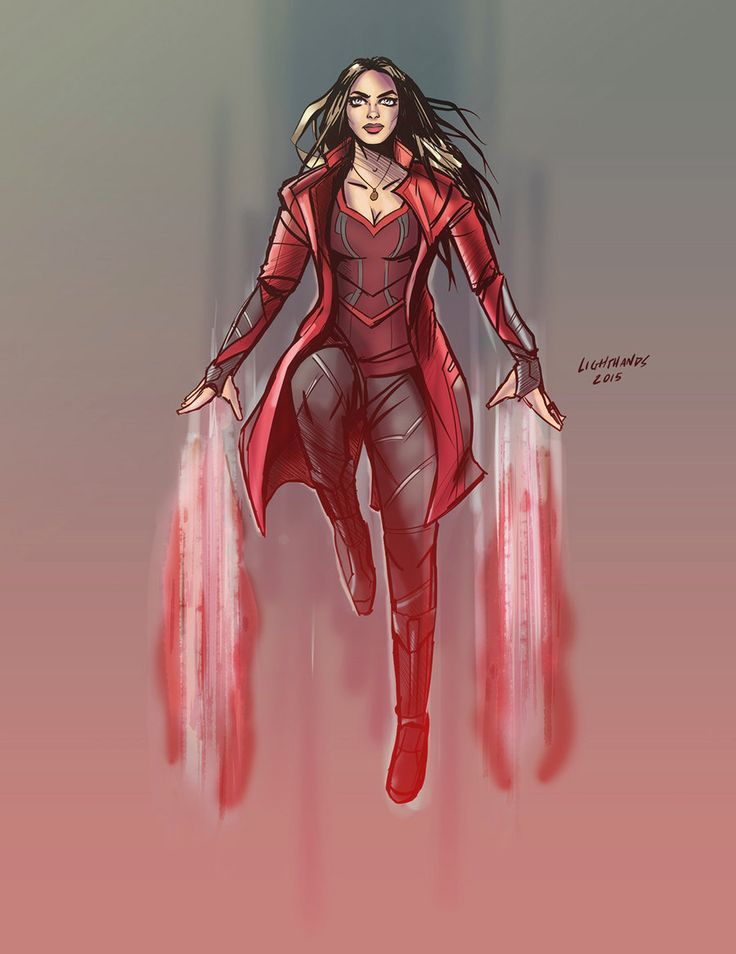 Drawn witchcraft scarlet witch Scarlet Buscar vision on Pinterest