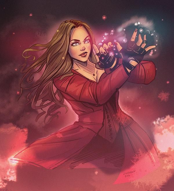 Drawn witchcraft scarlet witch Scarlet Civil War Civil MARVEL
