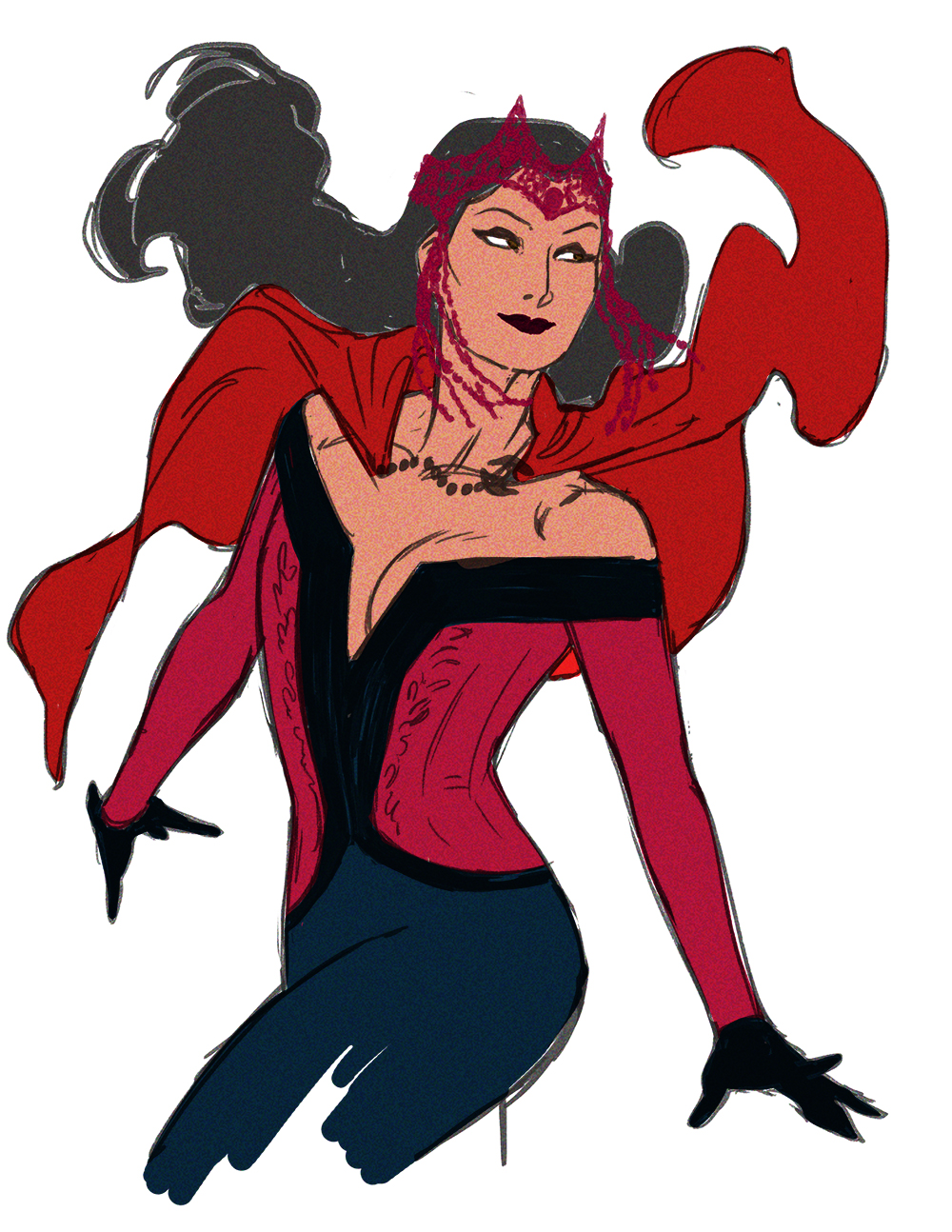 Drawn witchcraft scarlet witch Cool yearning Scarlet Scarlet downall