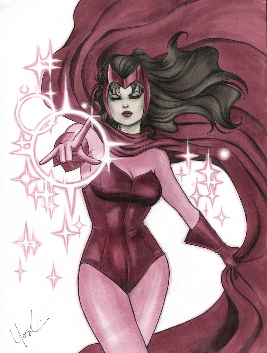 Drawn witchcraft scarlet witch Scarlet Witch Scarlet  by