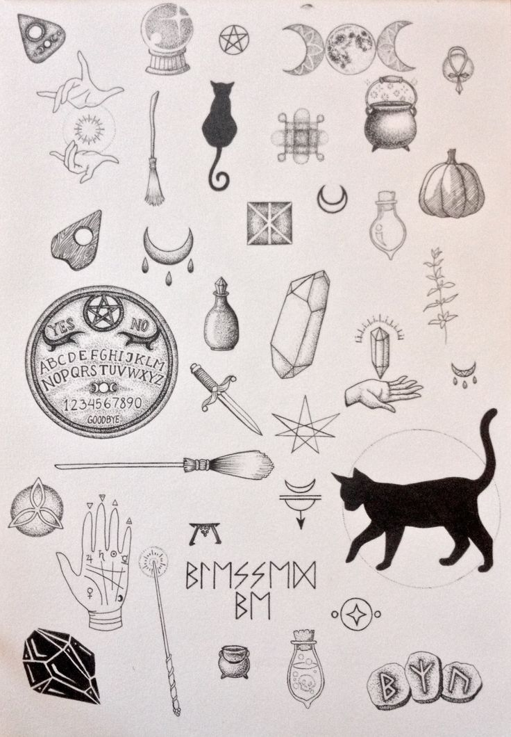 Drawn witchcraft simple Pinterest ideas tattoos Witchcraft and