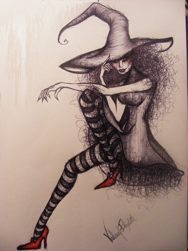 Drawn witchcraft wicked witch This WICKED on best images