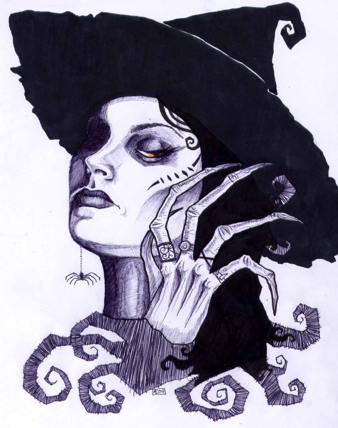 Drawn witchcraft wicked witch Witch by Witch on DeviantArt