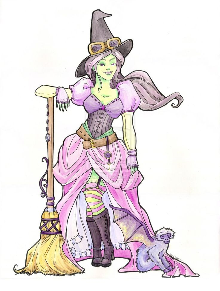 Drawn witchcraft wicked witch 91 Pinterest on Witches images