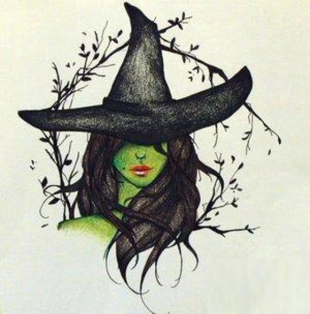 Drawn witchcraft wicked witch In Tattoos green Witches Wicked