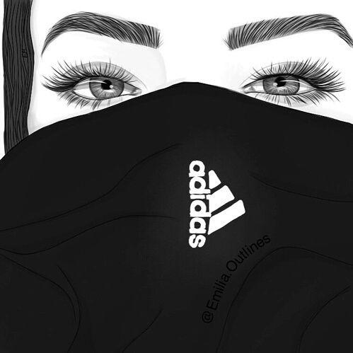Adidas clipart tumblr adidas Dessins fille style girl adidas