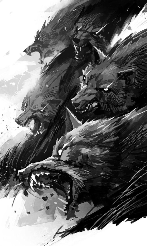 Drawn howling wolf the raven Ideas Pinterest art on 25+
