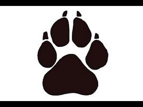 Drawn puppy paw print Draw to print a YouTube