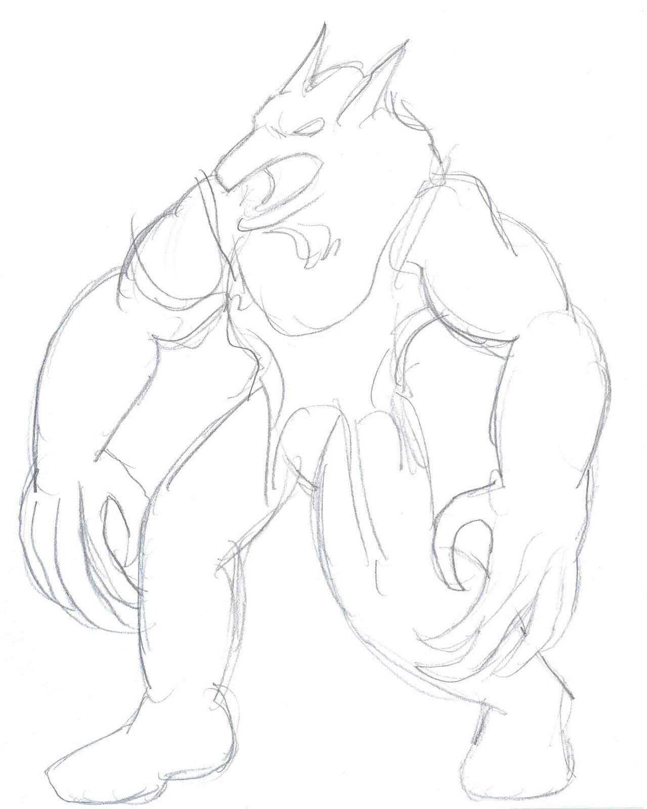 Drawn wolfman Werewolf authentic to Draw third