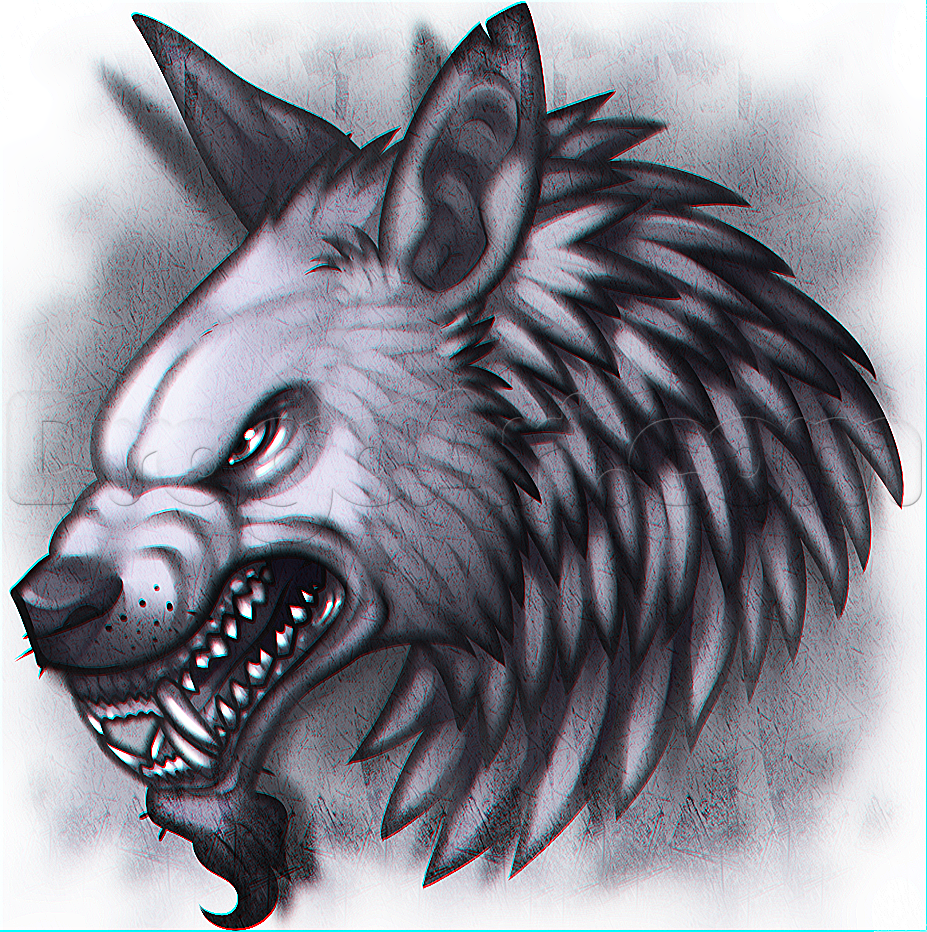 Drawn werewolf head To a Monsters how Draw