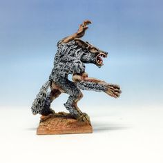 Drawn wolfman 28mm 1:8 on Ivar 77009 Reaper
