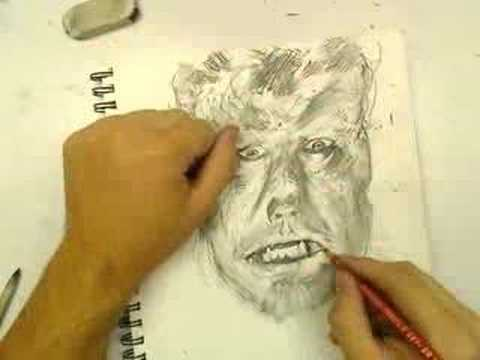 Drawn wolfman 28mm Wolfman Wolfman Drawing YouTube Drawing