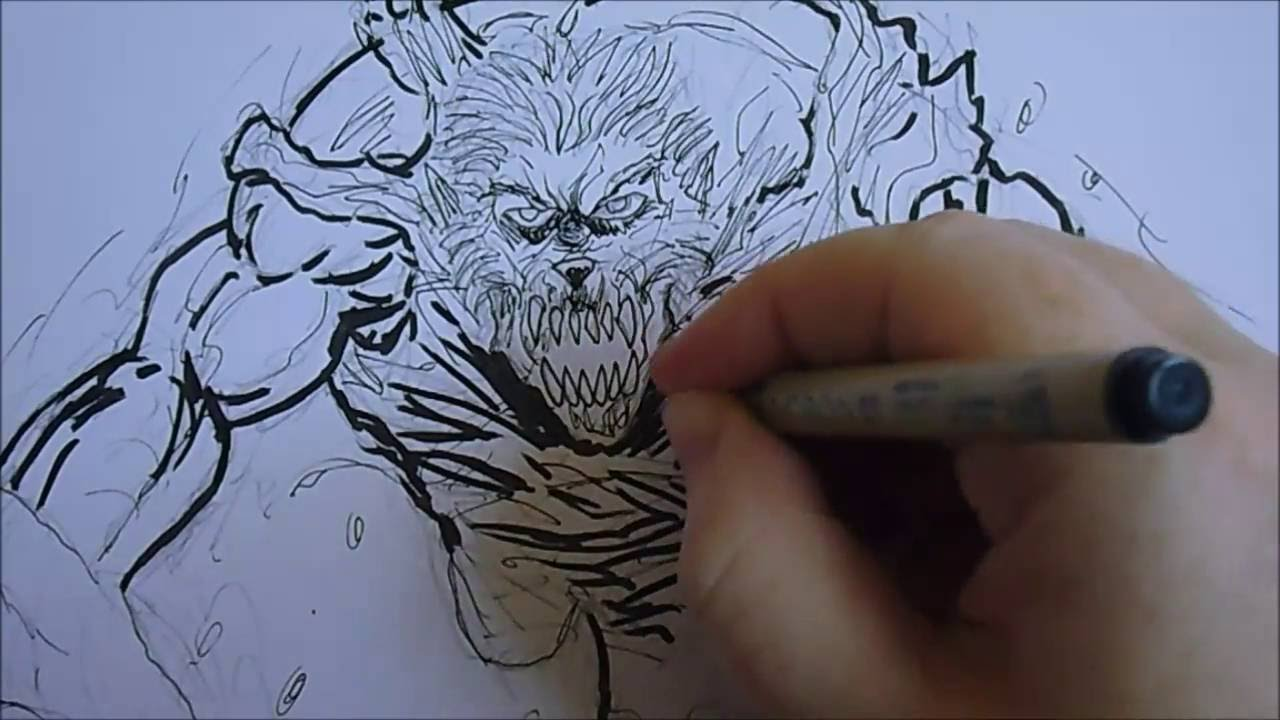 Drawn wolfman 28mm Drawing Wolf Wolf Sketch Man