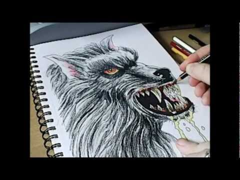 Drawn wolfman 28mm Halloween 365) How Draw of