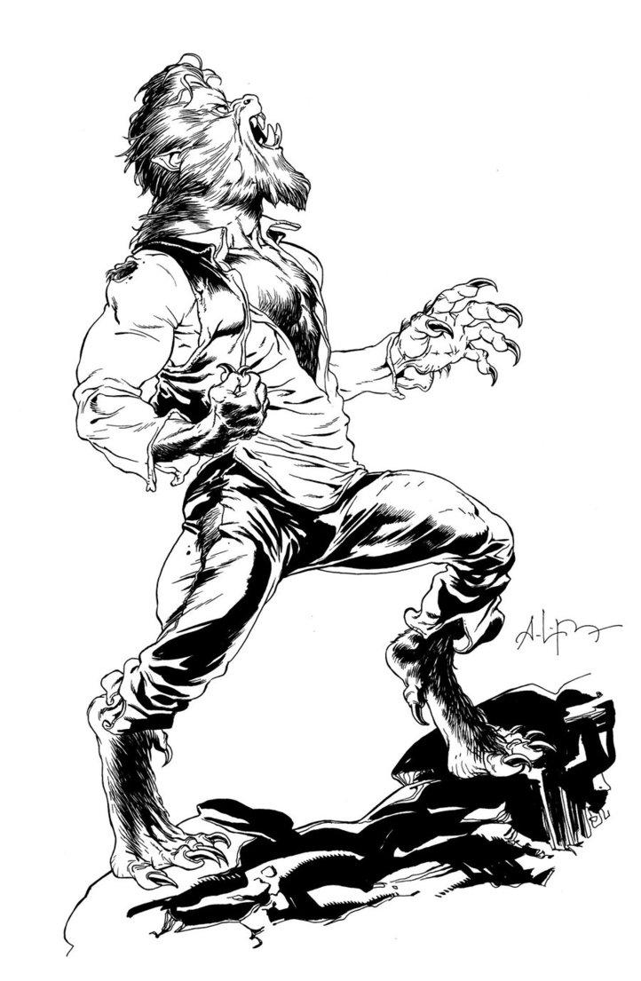 Drawn wolfman Pinterest wolfman Werewolves the ~andreibressan