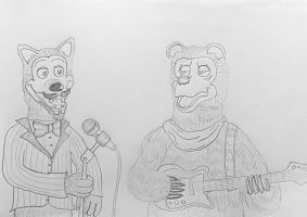Drawn wolfman bear  The Show Luck Sketch